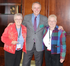 Sisters Joan and Therese with David Beckman