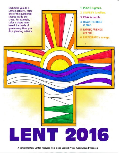 Click on the image to download your free Lenten cross.