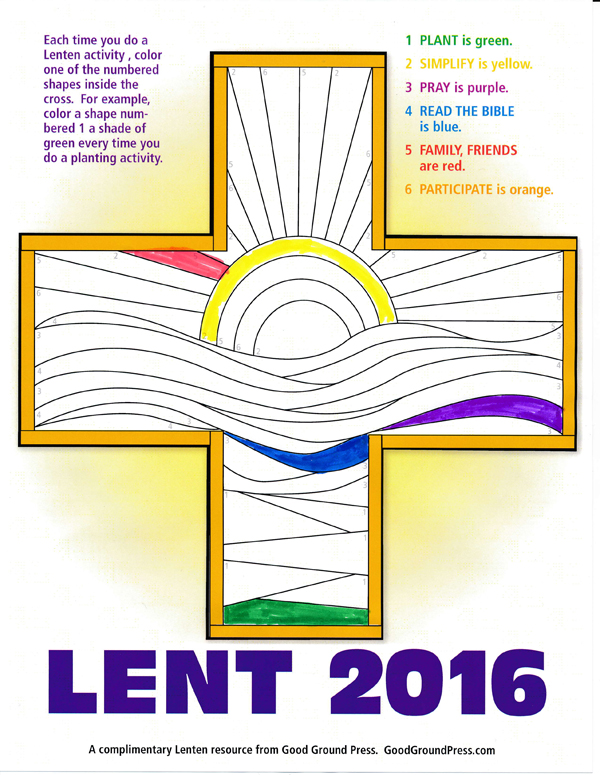Click on the image above to download your Lent cross.