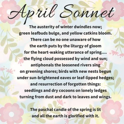 April Sonnet