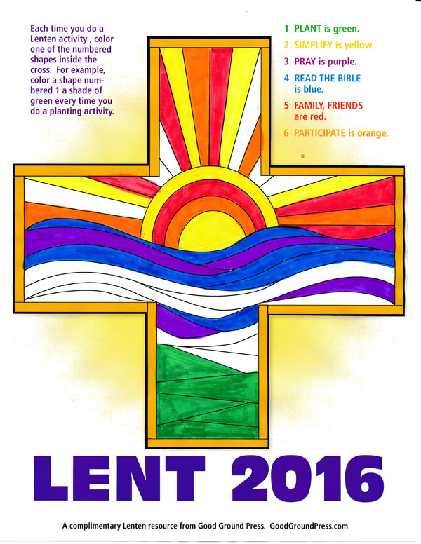 Click on the image to download your own Lenten cross.