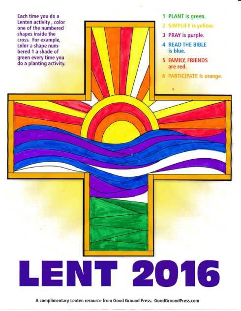 Click on the image to dowload your Lent cross.