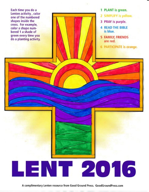 Click on the image to download your Lenten cross.